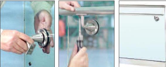 поручень со стеклодержателем