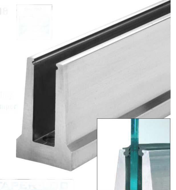Алюминиевый профиль CRL B5T для ограждения из закаленного стекла триплекс