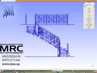 представление 3D модели лестницы