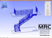 3D модель лестницы с кованым ограждением