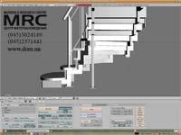 представление 3D модели лестницы,Blender
