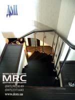 Больцевая лестница для дома, вид со второго этажа