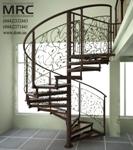 Кованное ограждение винтовой лестницы