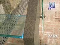 Крепление для стеклянных панелей ограждений из высококачественной полированной нержавеющей стали
