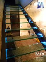 стеклянная лестница киев, для дома