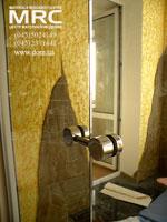 стеклодержатель из полированоой н/ж стали