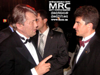 President of Ukraine Victor Yushchenko and Yury Gogotsi