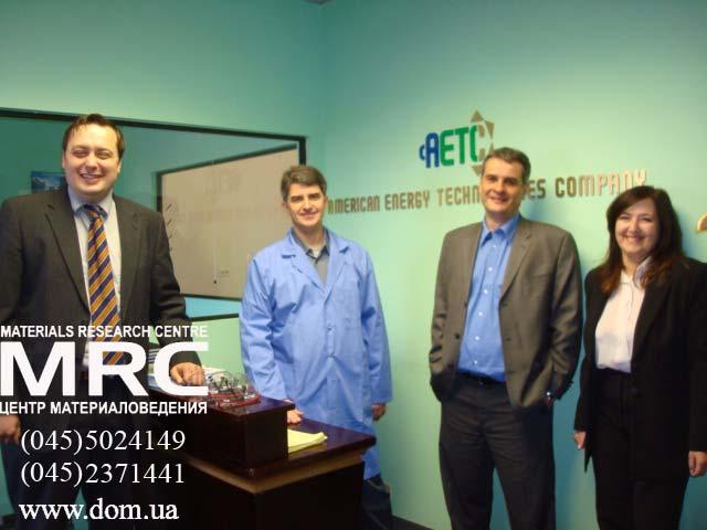 Visit to American Energy Technologies Company with american partners: Igor Barsukov (AETC), professor Yury Gogotsi (Drexel University), Alexey Gogotsi (MRC), Maya Barsukova (AETC)