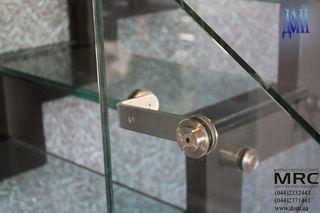 Фурнитура для стекла из полированной нержавеющей стали