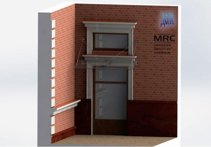 козырек над входом, дизайн проект