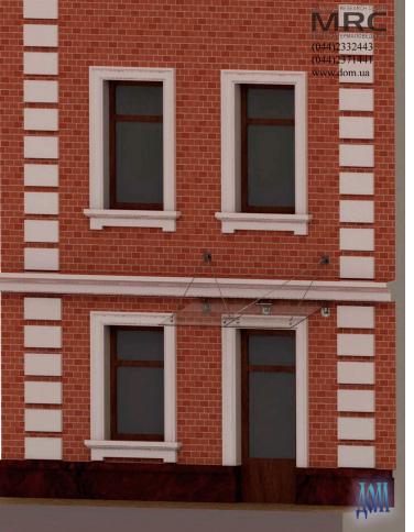 3d визуализация стеклянного козырька