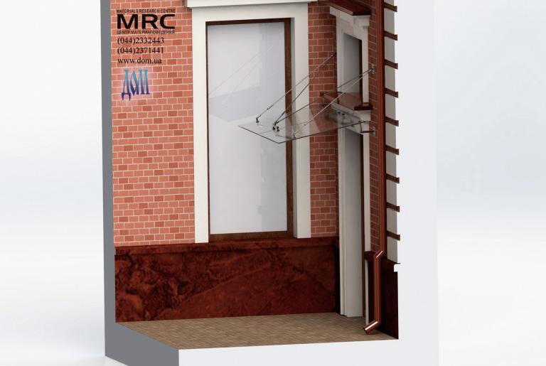 3D модель стеклянного козырька