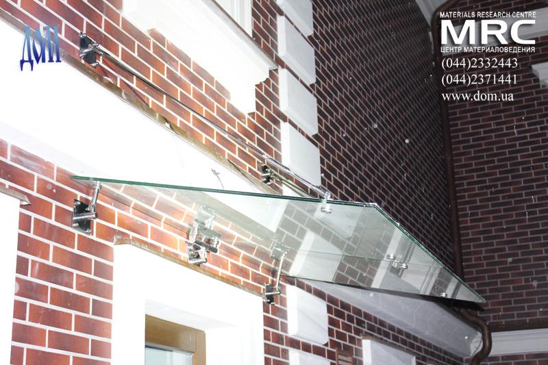 стекло козырьки над входом в загородный дом