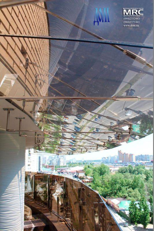 стекло козырьки над террасой