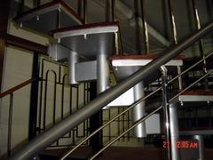 металлоконструкция лестницы и ограждение с черного металла