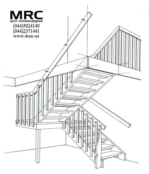деревянная лестница с