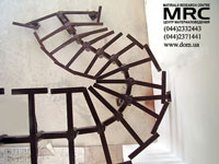 Металлоконструкция спиральной лестницы