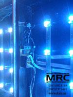 Монтаж стеклянного пола с подсветкой