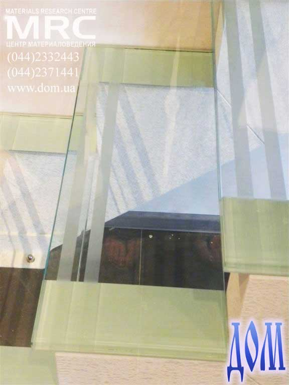 ступень - ударопрочное стекло