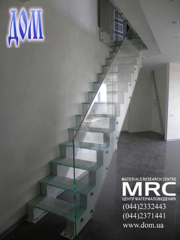лестницы стеклянные киев