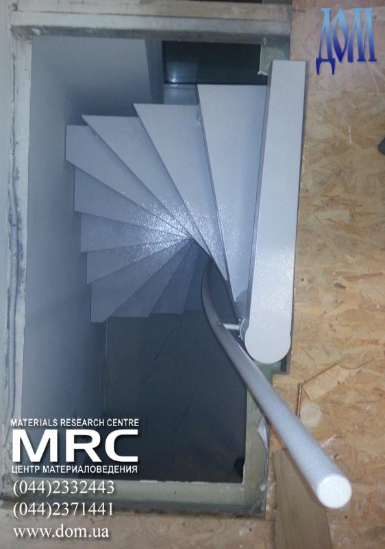 установка металлической лестницы