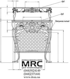 Креслення конструкції латунного столика