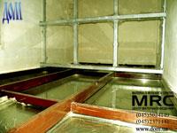 Установка металлоконструкции для стеклопола