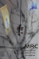 Держатель стекла круглый из полированной нержавеющей стали