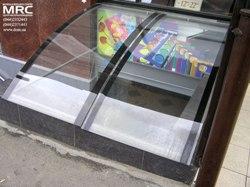 козырек из гнутого прозрачного стекла