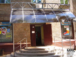 entrance lobby of cafe