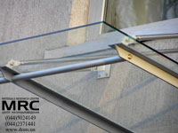 Canopy on joint mount from stainless steel
