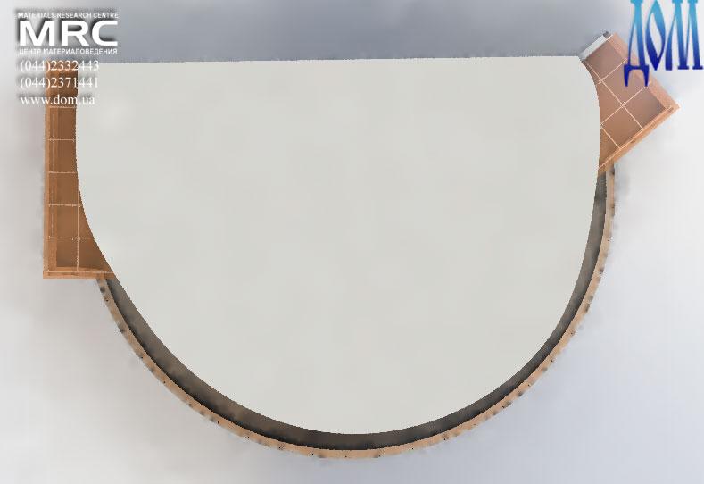 3D модель конструкции стеклянных навесов над террасой с ветрозащитным ограждением