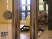 держатель стекянных панелей для ограждения лестницы