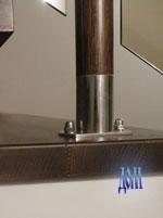пятка и стакан стойки из полированной нержавейки
