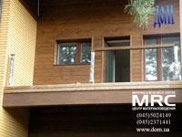 терраса деревянного дома