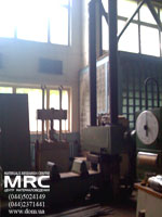 Testing unit for construction elements and rope systems testing, 500 t