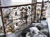 Монтаж балконної кованної огорожі в Кловском палаці правосуддя