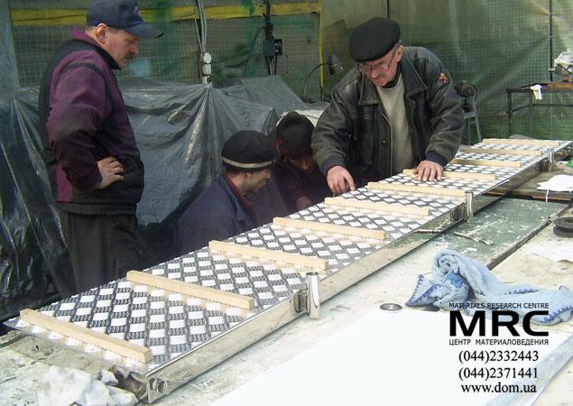 Виготовлення трапу з неіржавіючої сталі