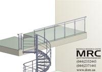 модель винтовой лестницы и ограждения проема