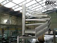 пластины сборного спирального бокового контура винтовой лестницы