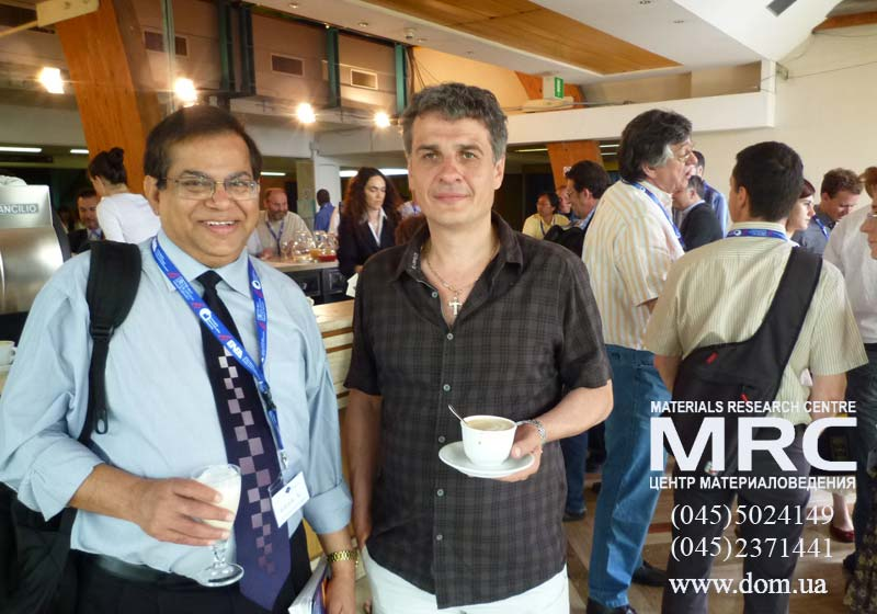 Alexey Gogotsi, Director of MRC, Kiev,Ukraine with Prof. Rajendra Bordia