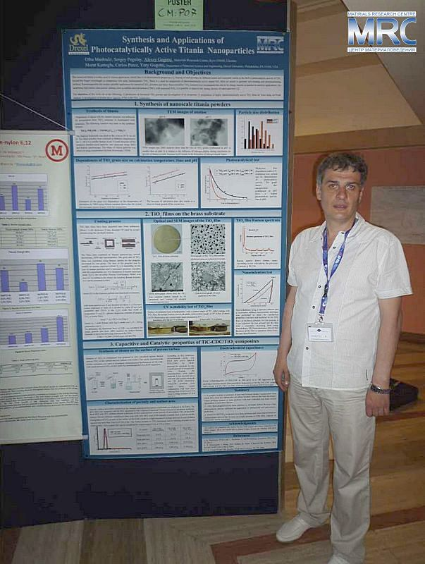 Alexey Gogotsi, Materials Research Centre, with a