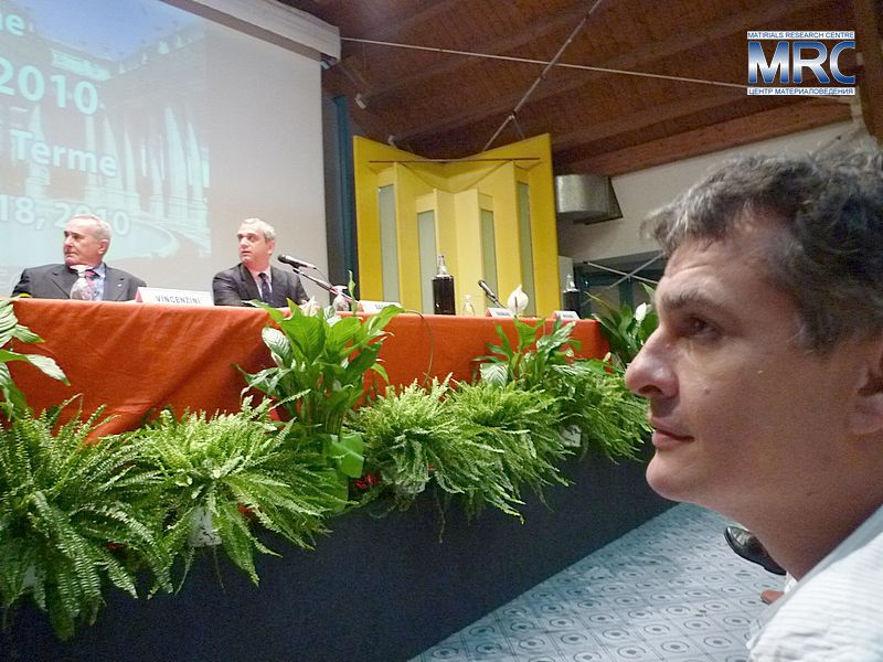 In the Presidium: Dr.Pietro Vincenzini