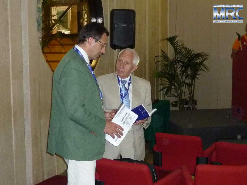 Professor George A.Gogotsi at the 12th International Ceramics Congress with Professor Marc Huger