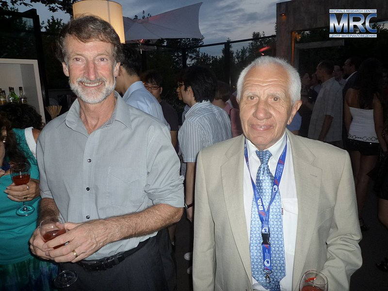 Professor George A.Gogotsi, Institute for Problems of Strength, Ukraine , with Professor David W. Marshall