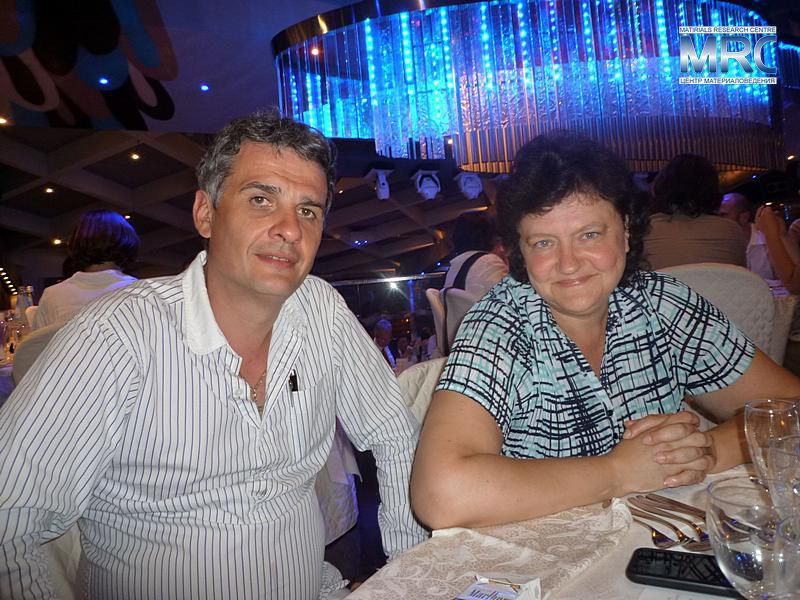 Alexey Gogotsi, Director of MRC,Ukraine, with Dr.Nina Orlovskaya