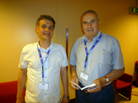 Alexey Gogotsi, Materials Research Centre, with Dr.Pietro Vincenzini