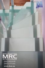 Лестница для дома из стекла