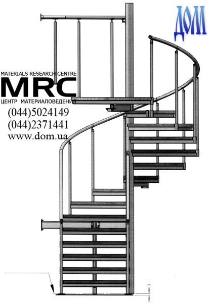 винтовой лестницы с