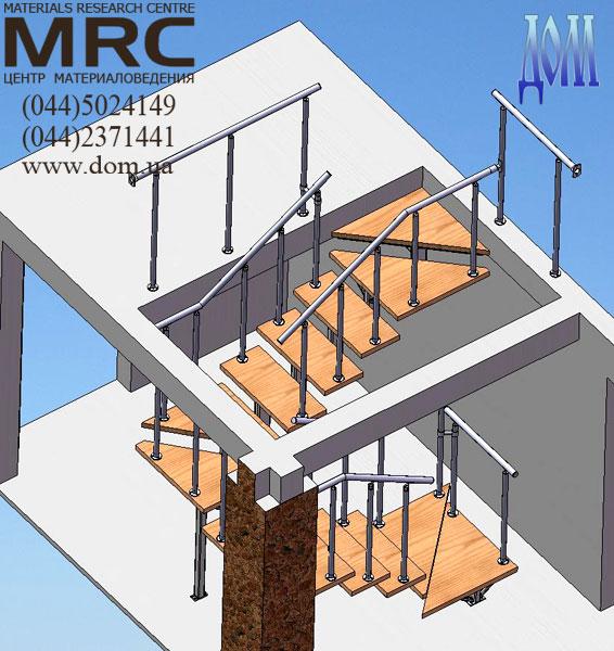 Металлической однокосоурной лестницы